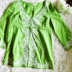 Michael Kors Lime Green Blouse